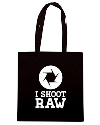 T-Shirtshock - Borsa Shopping TM0470 i shot raw Nero