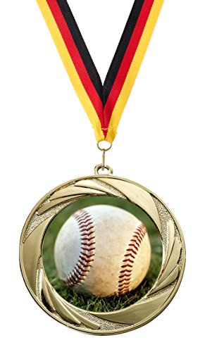 �Baseball«, mit 50 mm Sportfoto-Emblem (Metall, bunt) (Baseball-trophäen Für Kinder)