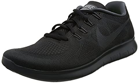 Nike Herren Free Run 2017 Laufschuhe, Schwarz (Black/Anthracite-Dark Grey-Cool Grey), 43 EU