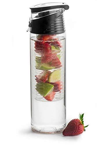 Sagaform Unisex- Erwachsene Fresh Flasche mit Früchteeinsatz, Schwarz, One Size