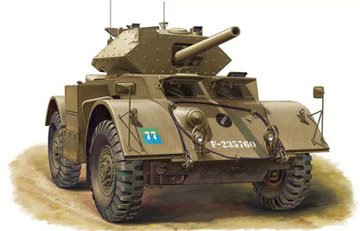 1/48 stack Hound MK.III armored vehicles equipped with 75mm gun