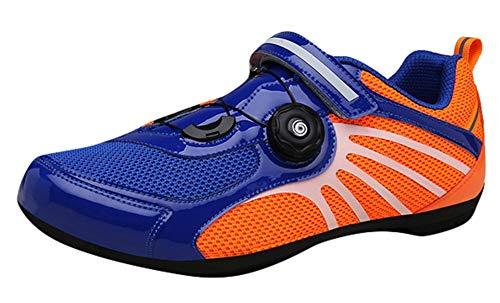 Insun Fahrradschuhe Rad Schuhe Radsport Schuhe mit Schnellschnürsystem und Gummi Sohle Blau 39 EU