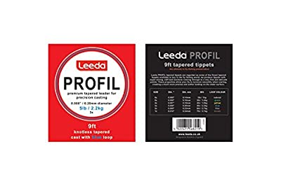 Leeda Profil 9ft Super Strong Stiff Butt Smooth Tapered Fly Fishing Leaders by Leeda