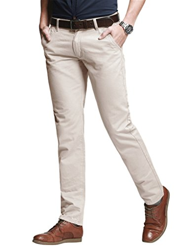 Match Pantalons Casual Slim Tapered Stretch pour Homme #8050 8060 Abricot(Apricot)