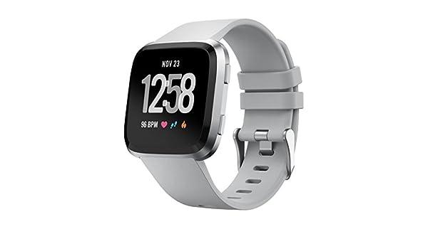 Per Fitbit Versa Smartwatch Morbido Silicone sostituzione cinghia banda Classico Sportivo