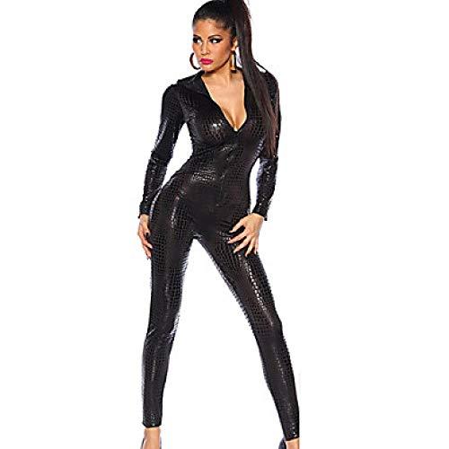 Kostüm Figur Tv Weiblichen - SINYUEE Women's Movie/TV Theme Kostüme Mehr Kostüme Karriere Kostüme Sexy Uniformen Mehr Uniformen Sex Zentai Suits Cosplay Kostüme Catsuit Solid Colored Dress, Schwarz,Weiblich,XL