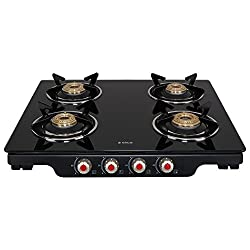Elica Glass 4 Burner Gas Stove (PATIO ICT 460 BLK S)