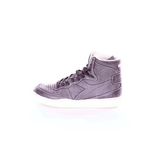 Diadora Heritage, Homme, Mi Basket Power, Cuir, Sneakers Haut, Noir Gris