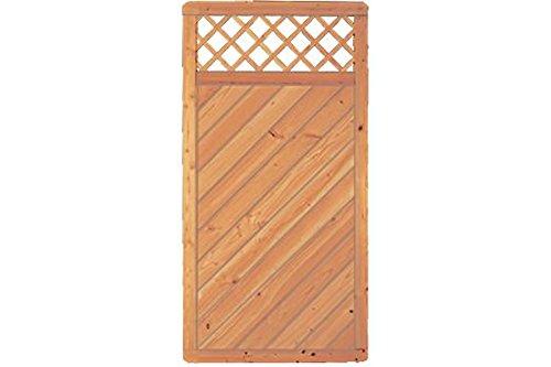 Sichtschutzzaun Holz Douglasie Gitter 90 x 180 cm (Serie: Doben)