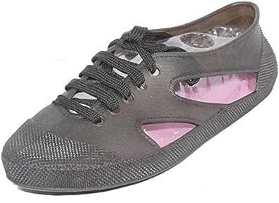 WMK Fashionable Ballet Flats lace up RAIN Shoes Bellies for Women
