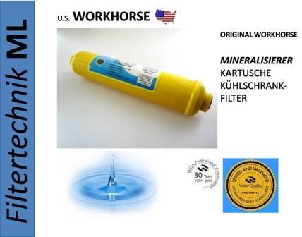 WORKHORSE Kühlschrankfilter Mineralfilter 1/4 Zoll zur Remineralisierung von Umkehrosmose Wasser und/oder als Kühlschrankfilter!!!!!NEU! (Mineralwasser Umkehrosmose)