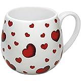 Könitz Little Hearts Kuschelbecher, Becher, Tasse, Kaffeetasse, Porzellan, Herzen, 420 ml, 1 1 143 0073