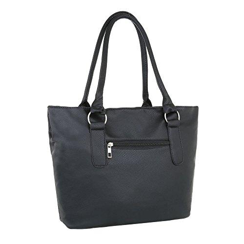 Borsa A Tracolla Modello Tote Bag Nr.2 Nero