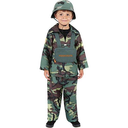 Söldner 2 Kostüme (Kinder Armee Kostüm Soldatenkostüm M 140 cm Soldat Kostüm Kämpfer Krieger Kinderkostüm Söldner Legionär Offizier Rekrut)