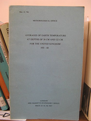Averages of Earth Temperature at Depths of 30 cm and 122 cm for the United Kingdom, 1931-60