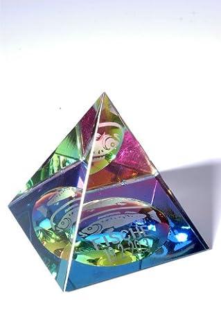 Sternzeichen Glas Pyramide - Fische 20. Februar - 20. März (März Glas)