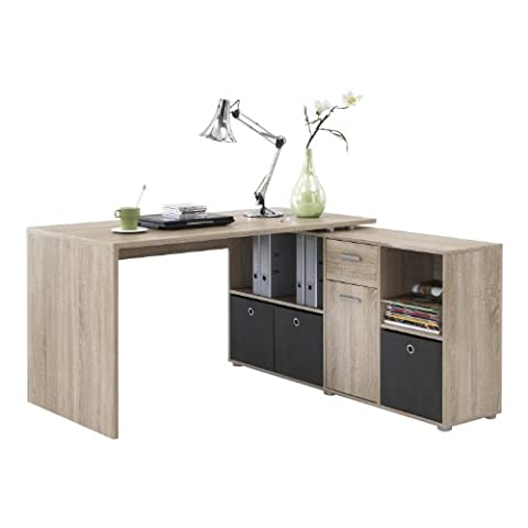 LEXA Corner Home Office Computer Desk Finished in Oak(4 different build combinations)