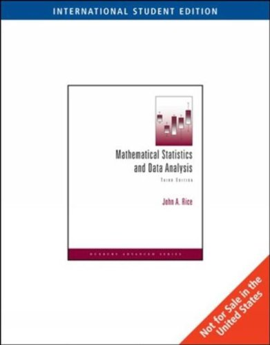 Mathematical Statistics and Data Analysis: With CD Data Sets