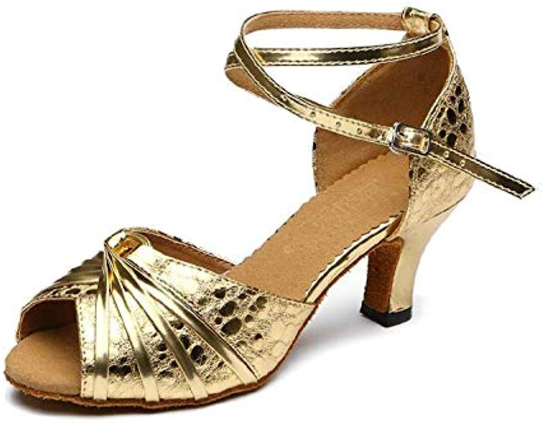 Willsego donna Latin Dance High Heel Heel Heel Glitter Salsa Tango Modern Ballrom Mary Jance Scarpe da Ballo, oroheeled5cm-UK6.5...   Design Accattivante    Uomini/Donna Scarpa  ee9f6d
