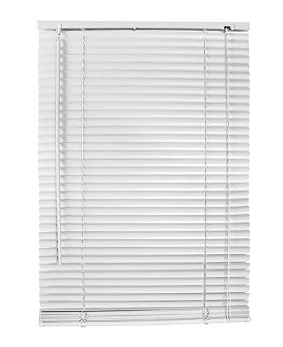 Vetrineinrete® tende veneziane in pvc veneziana finestra tenda marrone bianco beige chiaro o scuro effetto legno varie misure (bianco, 60 x 160 cm) f6