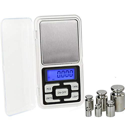 DuDuDu Mini-Cuisine Balance Digital de Poche pour Les échelles de Bijoux en Argent Sterling Or Balance gramme électronique échelles / 200g / 300g / 500g x 0,01 g