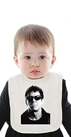 The Velvet Underground Lou Reed Portrait Organic Baby Bib with Ties Medium