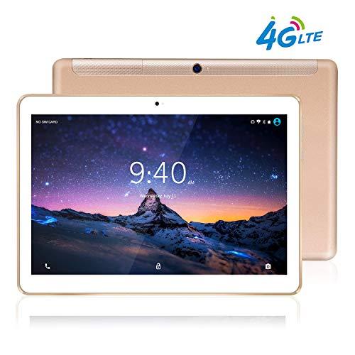 Tablet 10 pollici 4g lte beista-android 9.0 tablets,otto core,frequenza della cpu 2.0 ghz,4g ram,64gb rom,wifi,corpo in metallo ultrasottile, schermo in vetro temperato hd,gps-or