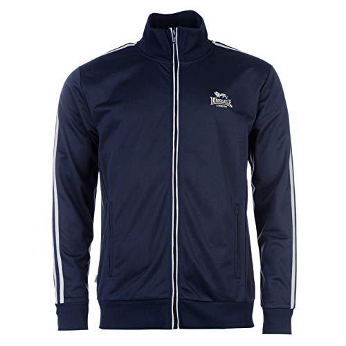 Lonsdale Herren Trainingsjacke Jacke Sportjacke Sport Freizeit Reissverschluss Navy/Grey Large