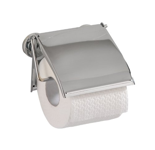 Preisvergleich Produktbild WENKO 17815100 Power-Loc Toilettenpapierhalter Cover - Befestigen ohne bohren, Stahl, 13.5 x 12 x 3.5 cm, Chrom