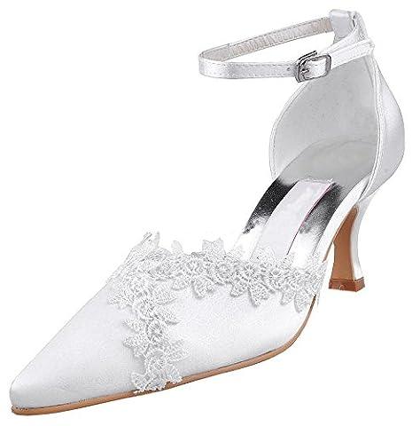 Kevin Fashion , Chaussures de mariage tendance femme - blanc - blanc, 39