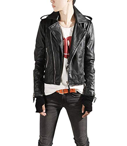 Lannister Fashion Herren Pu Lederjacke Bikerjacke Freizeitjacke Slim Motorradjacke Fit Kunstlederjacke Bekleidung Outerwear Mantel (Color :...