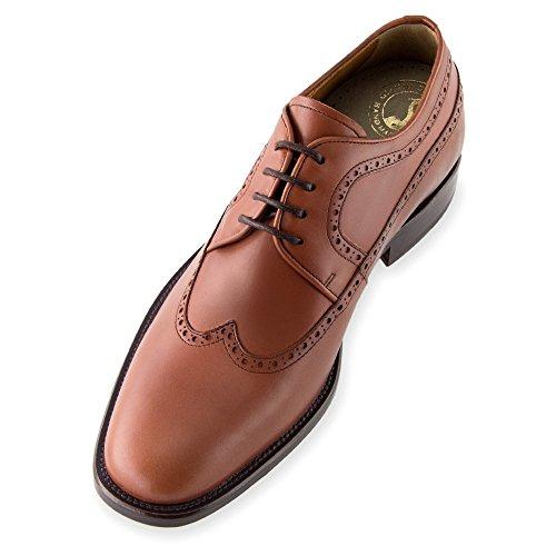 Masaltos - Chaussures rehaussantes pour homme. Jusqu'à 7 cm plus grand! Modèle Lexter Brun