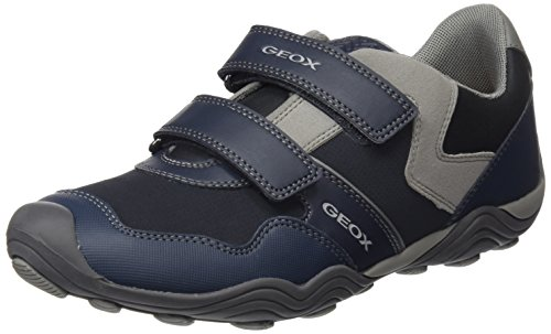 Geox Jr Arno A, Sneakers Basses Mixte Adulte Bleu (Navy/grey)