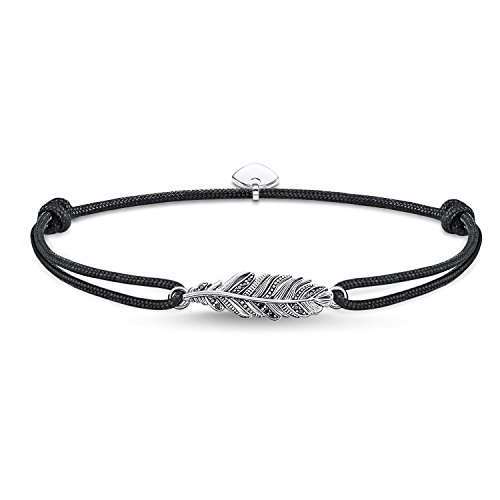 Thomas Sabo Damen Herren-Armband Little Secret Feder 925 Sterling Silber LS063-889-11-L22v