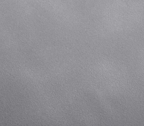 Klebefolie SAMT-OPTIK GRAU Dekofolie Möbelfolie Tapeten selbstklebende Folie, PVC, ohne Phthalate, grau, 45cm x 1m, 140µm (Stärke: 0,14 mm), Venilia 53195