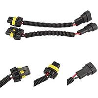 TOMALL 9005 HB3 9006 HB4 12cm (5 pulgadas) Arnés de cableado de extensión Adaptador de enchufe macho y hembra