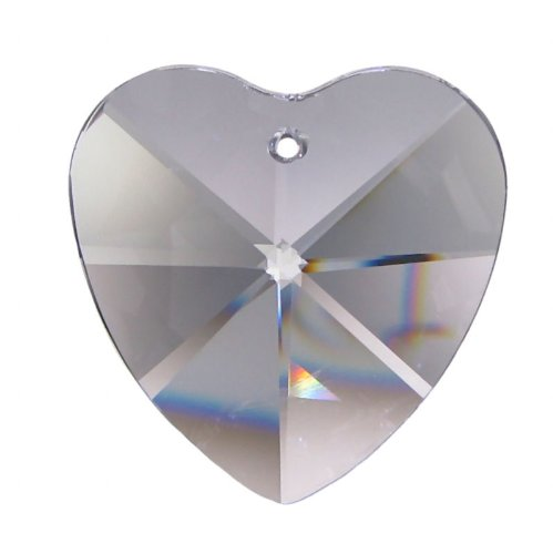 Coeur en cristal de qualité haut de gamme (30% pbo) 40 mm de hauteur