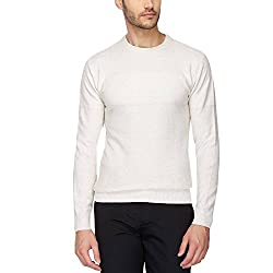 Indian Terrain Mens Round Neck Solid Pullover