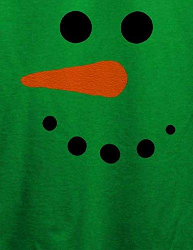 Schneeman Gesicht T-Shirt Grün