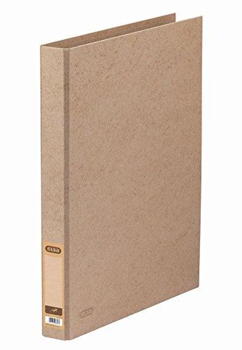 ELBA 100201476 Ringbuch Touareg in beige im Format DIN A4 aus recyclefähigem TCF-Papier mit 2 Ringen und einer Rückenbreite von 3,5 cm
