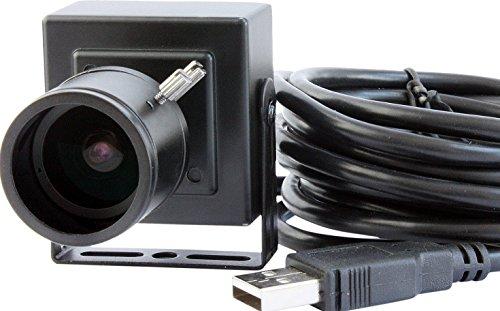 ELP 2 megapíxels MJPEG 30 ms, 1920 x 1080, full hd box mini cmos 1080P usb 2. 8-12 mm para cámara de fotos con objetivo con distancia focal variable para la seguridad y vigilancia, color negro