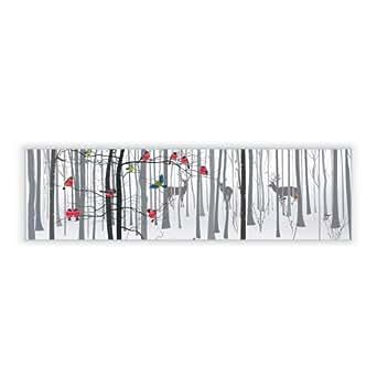motivscheibe f r ikea wandleuchte gyllen im querformat mit motiv winterwald beleuchtung. Black Bedroom Furniture Sets. Home Design Ideas