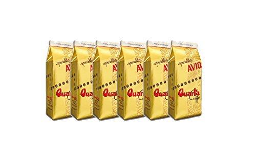 Caffè Quarta Avio Oro macinato. N. 6 confezioni da 250 g. Caffè italiano pugliese salentino prodotto e confezionato in Salento....