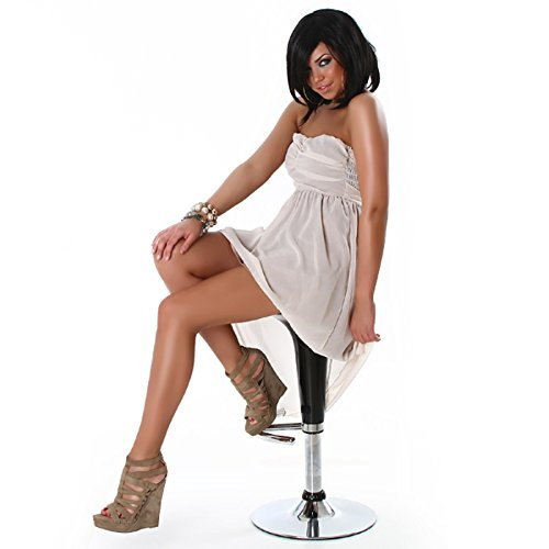 Bandeau Chiffon Mini vestito in beige XS S M L 34363840Beige di Ly Vokuhila XX Panna
