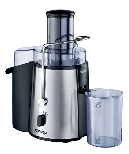 Concept LO-7025 850W Black,Stainless steel - Juice Makers (Black, Stainless steel, 16800 RPM, 1.8 L, 1 L, Stainless steel, 850 W)