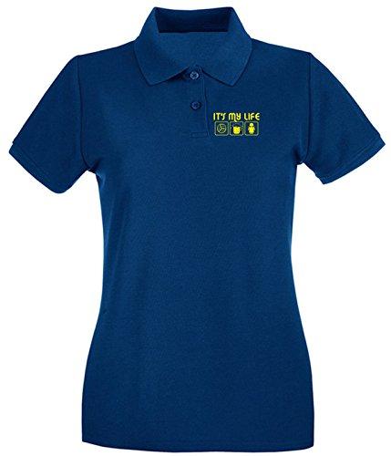 T-Shirtshock - Polo pour femme T0072 IT IS my life volley religioni celtic Bleu Navy