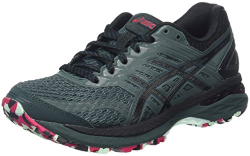 Asics Women's Gt-2000 5 Plasmaguard Trail Running Shoes, Green (Hampton Green/Black/Cosmo Pink),...