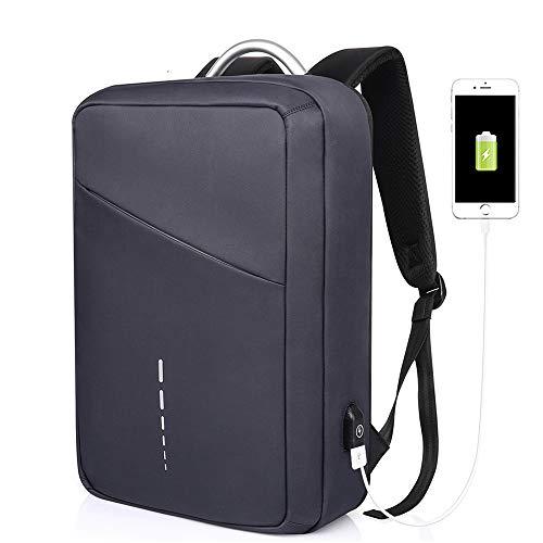 WOTR Laptop-Rucksack mit USB-Ladeanschluss, Anti-Diebstahl Schule Business Rucksack für Männer Frauen, College Schule Rucksack Fit 15in Laptops,Blue (Schule Bindemittel Für College)