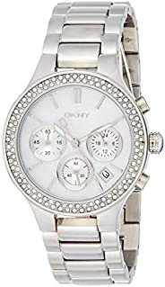 DKNY Womens Quartz Watch, Analog Display and Stainless Steel Strap NY8057