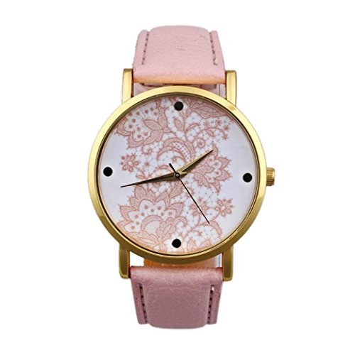 internet-women-lace-dress-printed-faux-leather-watches-pink